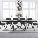 Blenheim 180cm White Ceramic Dining Table With Dexter Faux Leather Chairs