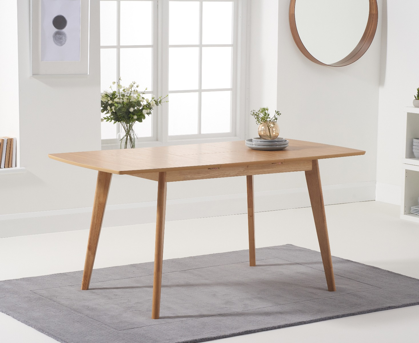sacha 120cm extending dining table