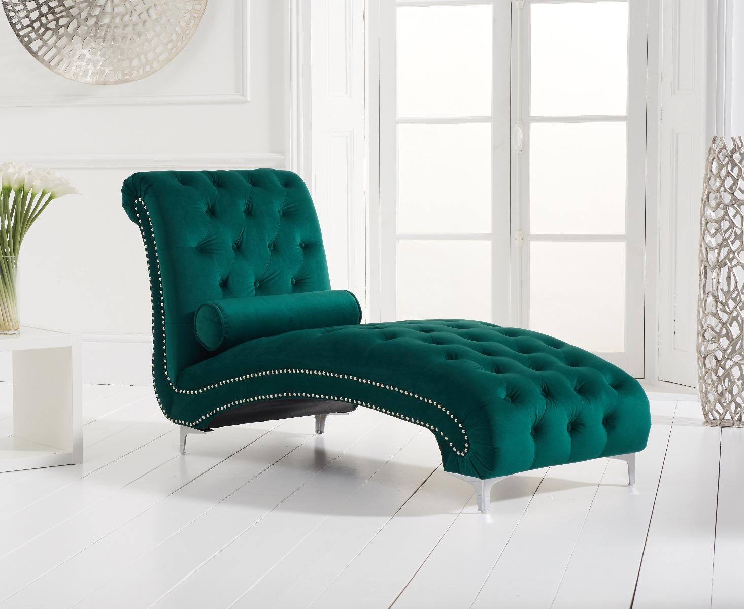 new york green velvet chaise lounge