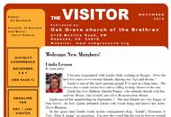 The Visitor - Oak Grove Church of the Brethren newsletter
