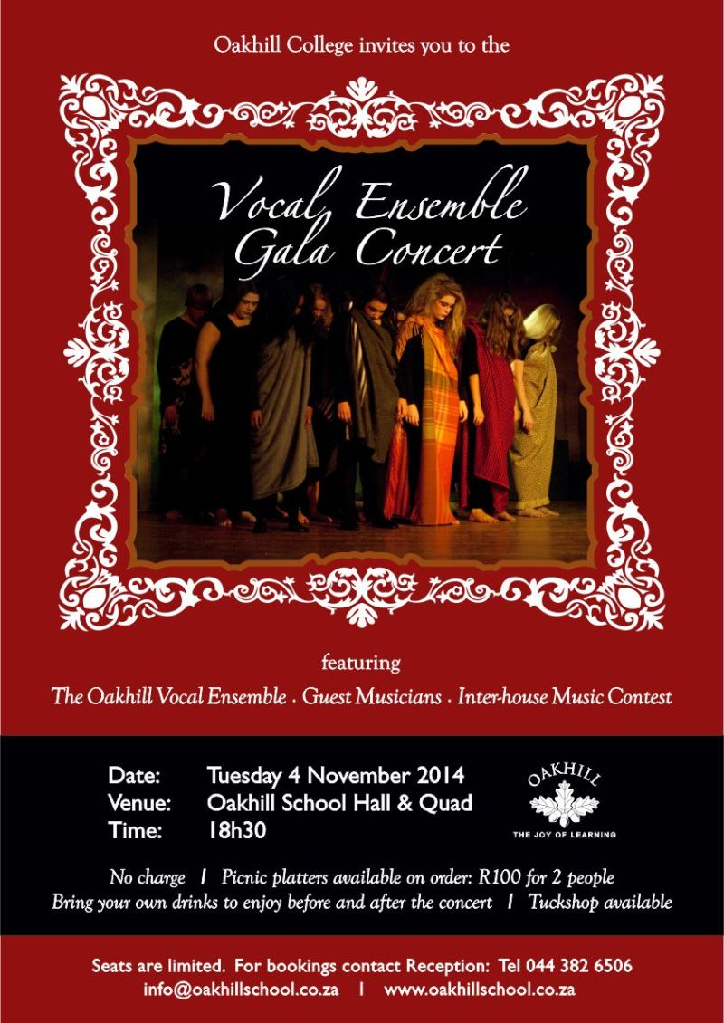 College Vocal Ensemble Gala Concert-red