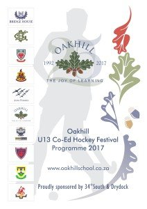 PREP Oakhill U13 Co-Ed Hockey Festival 2017_Front Page