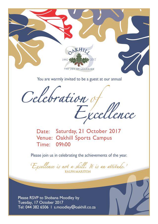 Invite College Celebration of Excellence