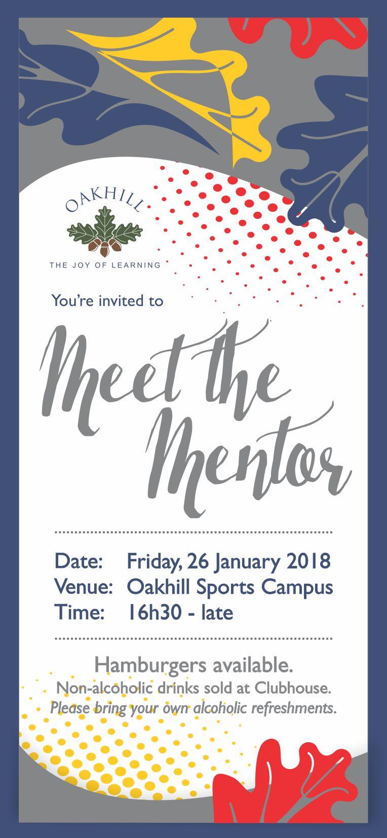 Meet the Mentor Invite 2018