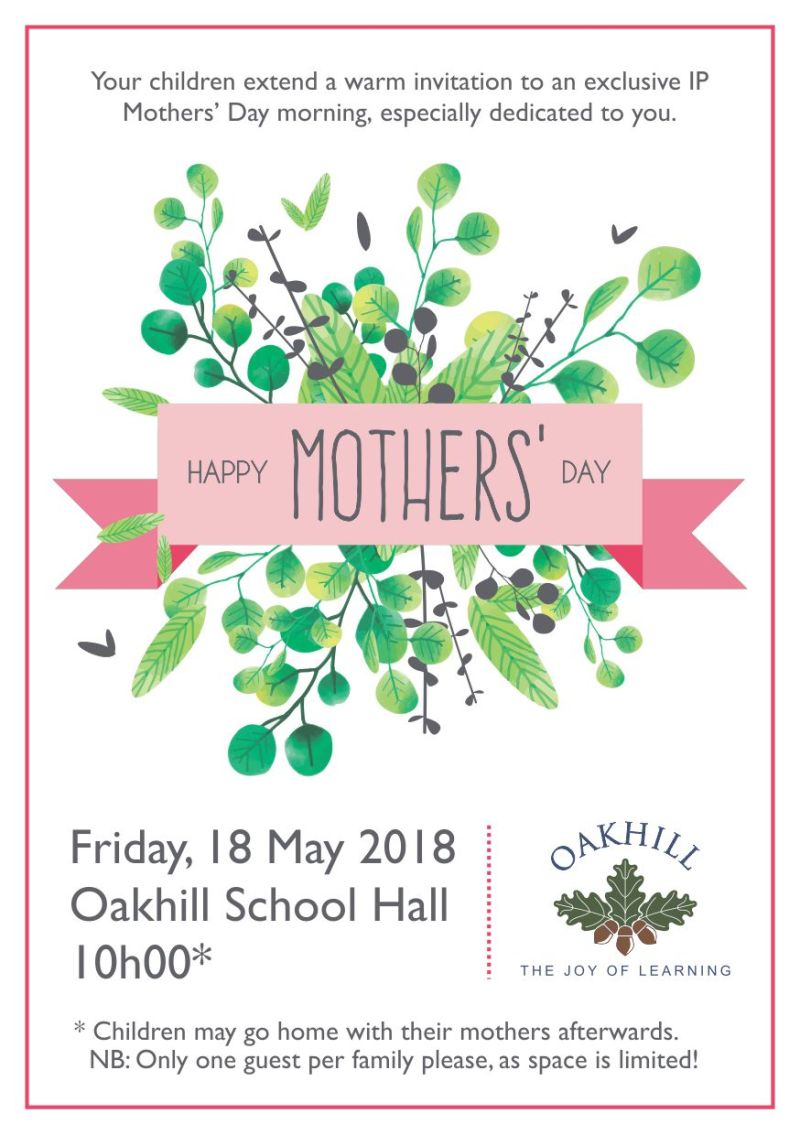 Mothers Day Invite 2018