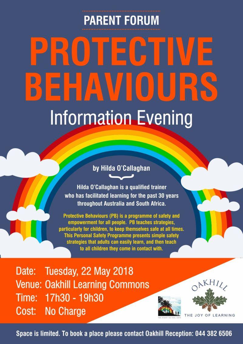 Parent Forum - Protective Behaviours