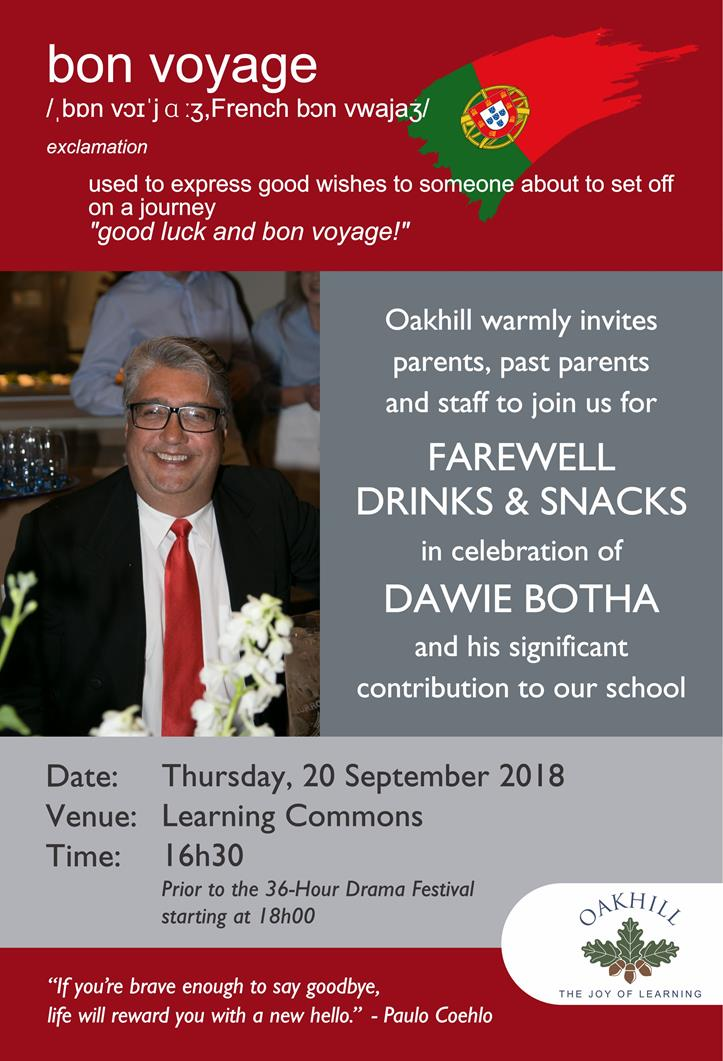 Farewell for Dawie INVITE