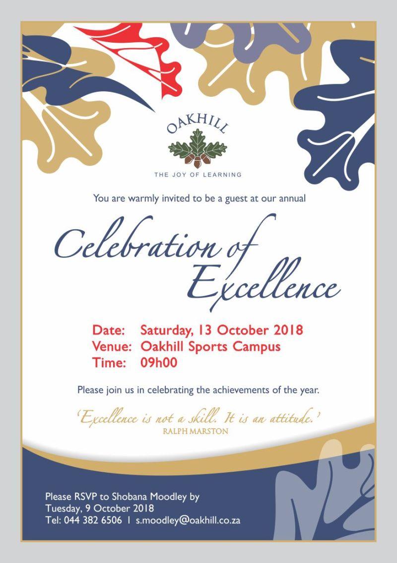 Invite College Celebration of Excellence 2018