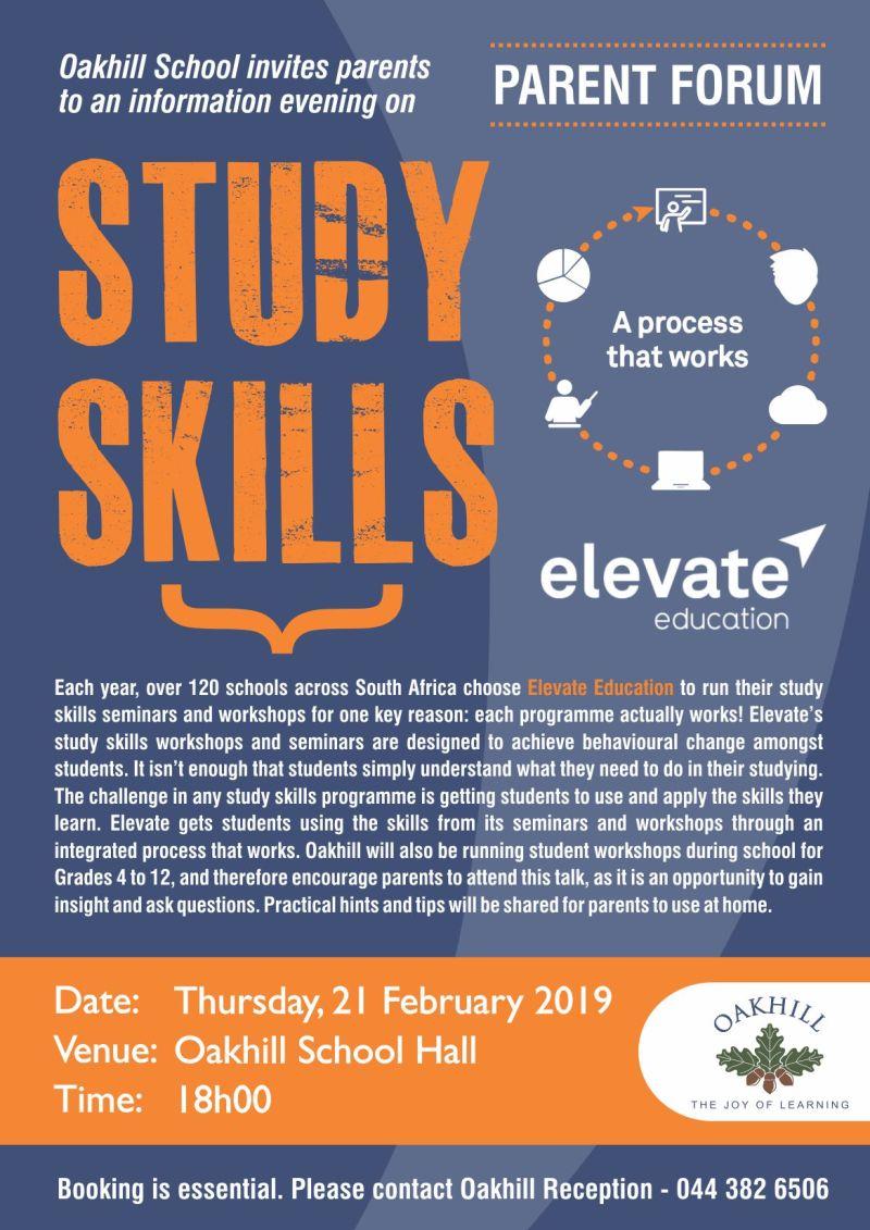PARENT FORUM - Elevate Study Skills