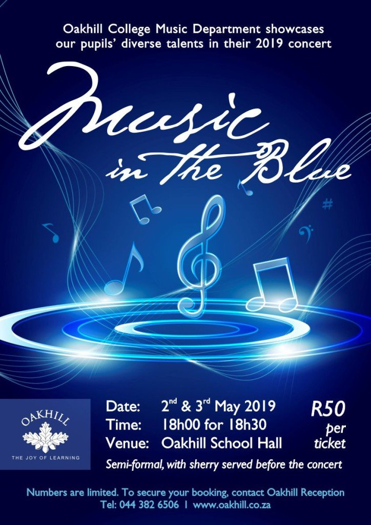 College Music in the Blue POSTER