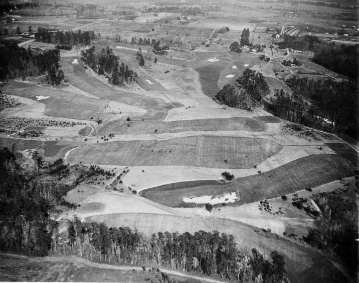Augusta National the day before it opened in 1933