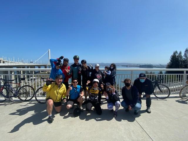 Oakland Uptown Rotary Members Biking the Bay Bridge