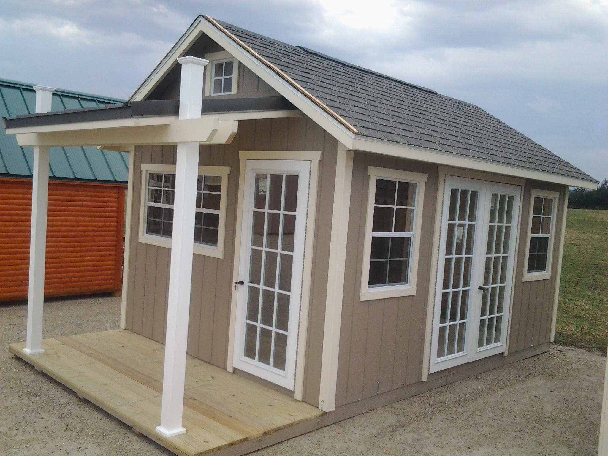 10x16 Garden Shed W Porch