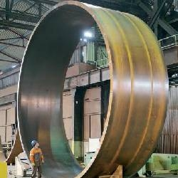 Huge shell being made with Dillinger ASTM A516 Pressure Vessel Steel