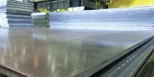 Newly rolled and cut S235JR steel plate
