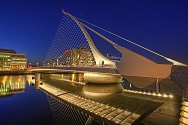 Samuel Becket Bridge in Dublin made from 120mm S355ML