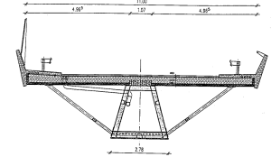 Figure 14: Bridge-building with heavy steel plates, box beam section of Nesebachtal Bridge, D