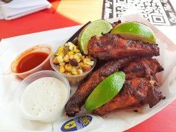 Smoked wings are a winner at Cigars and Stripes. Photo by Melissa Elsmo