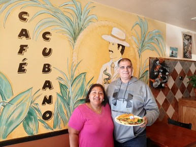 Cafe Cubano co-owners, Mayra and Javier Hernandez Jr.