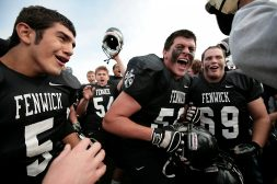 Fenwick defeated Brother Rice at Morton High School to earn a place in the state playoffs, Saturday, October 23, 2010. Photo by J. Geil.