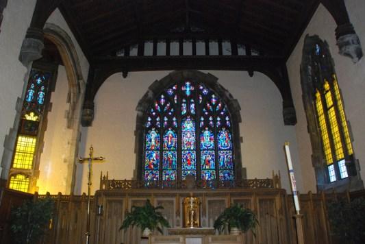 Interior of St. Thomas Aquinas Priory in River Forest.Photos courtesy DEB PREISER