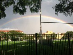 Carrie Summy caught this view of the rainbow over OPRF.