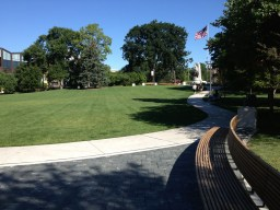 The meadow is larger and better shaped with all new sod and irrigation. (Photo by Garret Eakin)