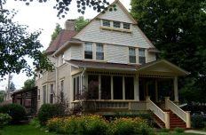 The porch on this 1895 Queen Anne home required rebuilding to bring it back to its original quality. 301 Clinton Ave. Brad & Lauren Wolven, S. Ryan Construction. (Photo by Garret Eakin)