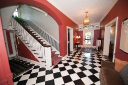 Dec. 11: The entryway of the Nimmons and Fellows-designed home on North East Avenue. Photo by Michael O'Neill