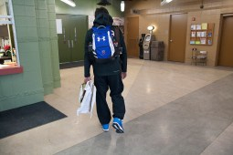 Lehman enters the Pettit National Ice Center in Milwaukee to begin an afternoon of training with his coach. He and his mother, Marcia, make the trip to Milwaukee three to four times a week. (David Pierini/staff photographer)