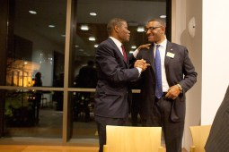Although Boykin took offense with Lawless during a point in the debate, the two shook hands and joked together following the forum. (David Pierini/staff photographer)