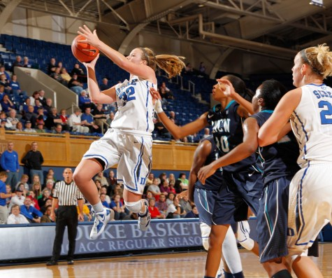 Tricia Liston, who graduated from Fenwick in 2010 as the school's all-time leading scorer with 2,713 points, also starred at Duke. In April, the Minnesota Lynx selected Liston with the 12th pick of the first round of the WNBA Draft. (Courtesy Duke University Athletics)