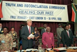 The Truth and Reconciliation Commission paved the way for a peaceful transition to a new South Africa. (Courtesy Brittanica.com)