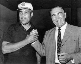 Joe Louis and Germany's Max Schmeling fought twice, then became fast friends later in life. (Courtesy Wikipedia.com)