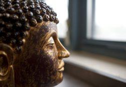 A metal Buddha from Asia. | WILLIAM CAMARGO/Staff Photographer