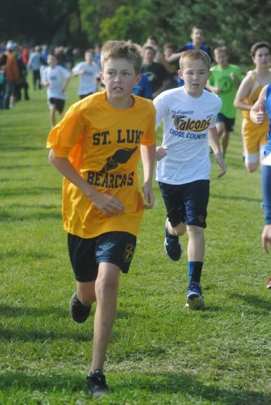 St. Luke seventh grader Jake Wiktor was close behind Vazquez with a time of 13:23 at the IESA sectional to also earn a PR and the second fastest two-mile in program history. (Courtesy Anna Dooley)
