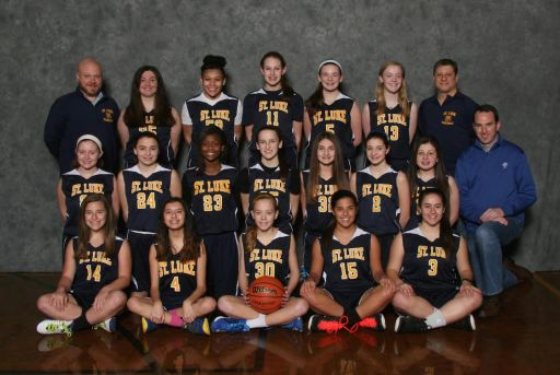 St. Luke 8th grade basketball team (Courtesy PMI Sports Photography)