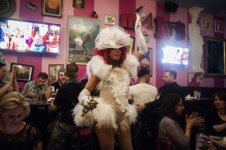 Angel LeBare emcees the Friday night festivities.   WILLIAM CAMARGO/Staff Photographer