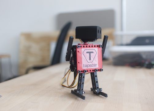 Dance-bot is a Tapster creation used to teach kids how to build robots. Tapster founder Jason Huggins wants to use them to break the world record for dancing robots. | Photo by William Camargo