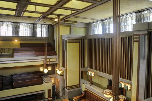The newly restored Unity Temple, one of Frank Lloyd Wright's most famous buildings, is opening some eyes. | William Camargo/Staff Photographer