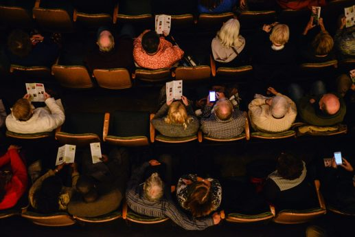 Seats begin to fill up as attendees enter and mingle before the event on Monday, Nov. 20, during the 2nd Wednesday Journal Conversations at Dominican University on Division Street in River Forest. | ALEXA ROGALS/Staff Photographer