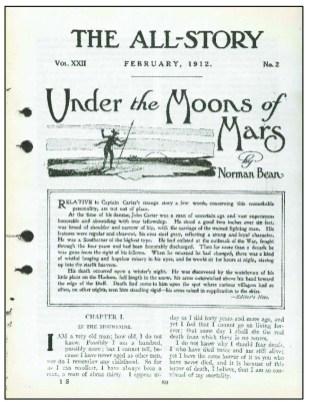 Original 1912 story | Courtesy of Edgar Rice Burroughs: The Man Who Created Tarzan, Irwin Porges