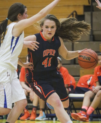 The Huskies' Maeve Nelson is an all-court player for OPRF. She averaged 8 points, 8 rebounds and 3 steals per game during the regular season. She's also an elite perimeter defender. (File photo)