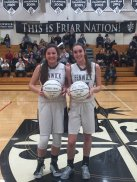 Fenwick seniors McKenzie Blaze and Kate Moore lead the Friars into their highly anticipated St. Joseph Sectional final against highly regarded Nazareth in the Class 3A playoffs. (Courtesy Twitter@FenwickAD)