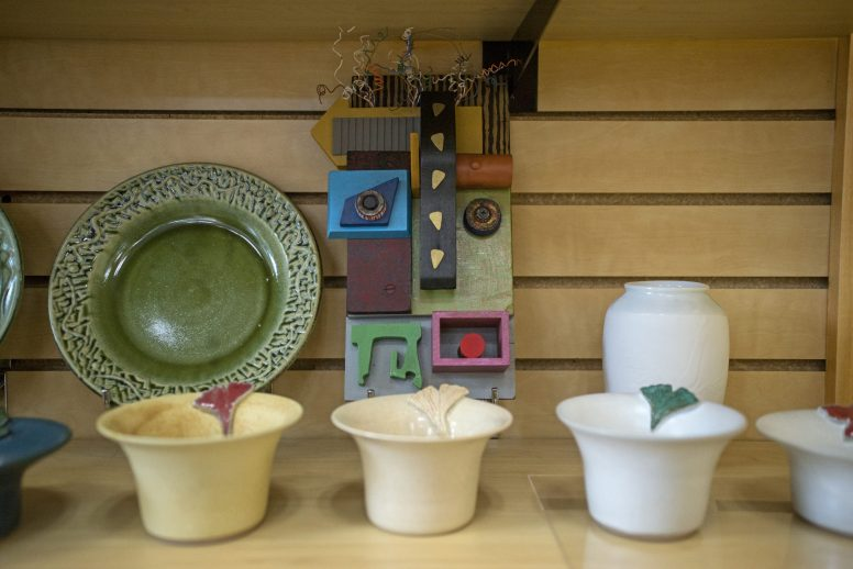 There are a variety of handcrafted items for sale at Visit Oak Park as part of their Urban Local Made program, including Oak Park's Kristi Sloniger's Ikebana pottery vases and objets d'art. | Alexa Rogals/Staff Photographer