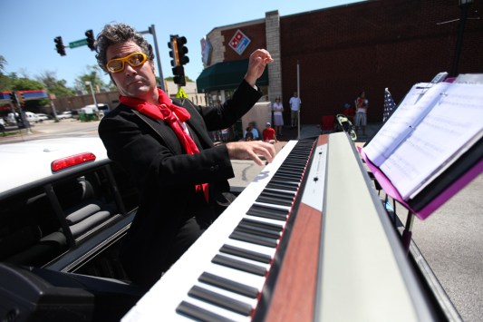 Ludwig impersonator: Fred Brandstrader plays the piano on the Church of Beethoven float during the 2011 Fourth of July Parade in Oak Park.J. GEIL/Photo Editor