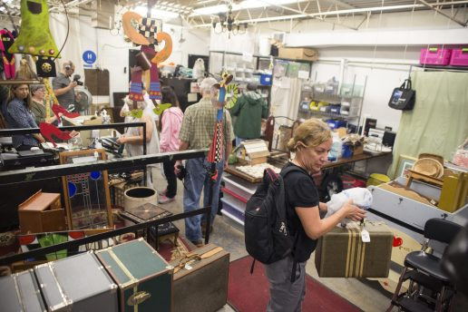 Bargain Hunters: Customers shop in the Warehouse Department of the Economy Shop. There are 16 departments with more than 10,000 items, all obtained through donations. | ALEXA ROGALS/Staff Photographer