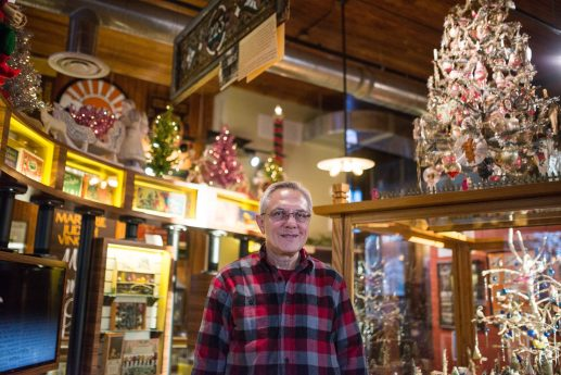 Jerry Ehrenberger started collecting unusual Christmas lights in fourth grade. His extensive collection can more than fill up his Austin home around the holidays. Alexa Rogals/Staff Photographer