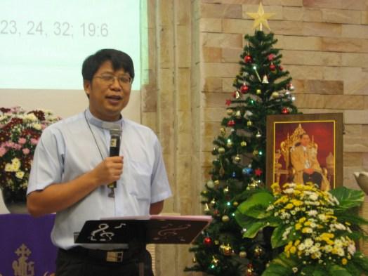 The Rev. Dr. Banjob Kusawadee at Laksi Lutheran Church near Bangkok