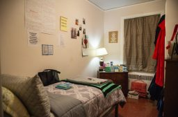 It took four years to get the interior of the old convent ready for occupancy again. The nuns' cells (above) provide residents with private rooms. | Alexa Rogals/Staff Photographer